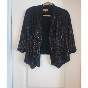 Like New Black Sequin Blazer
